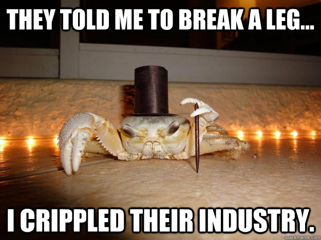 zlom-vaz-足を壊れての蟹